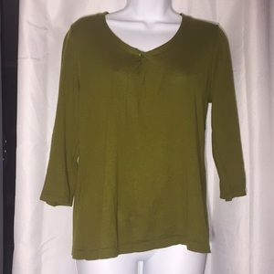 Green Cotton Coldwater Creek Sweater